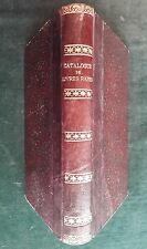 Catalogue d'une importante collection de livres rares de feu le Comte d'U.. 1868