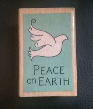 """katie & co. Studio g Hampton Art Rubber Stamp """"Peace On Earth"""" 2010-Gently Used"""