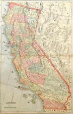 Original 1899 California State Large Color Map/15x22