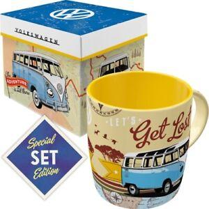 VW Kaffeetasse mit Box Becher 330 ml. coffee mug Special Edition Let´s Lost