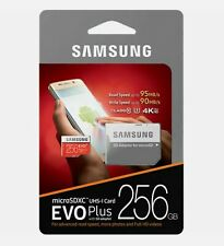 Samsung 256GB EVO plus 95MB/s MicroSD SDXC UHS-I Class 10 Memory Card Adapter