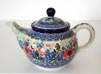 Unikat Geschenk Teekanne 750 ml. aus Bunzlauer Keramik Handarbeit nk3210