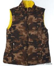 RALPH LAUREN Womens Reversible Camo Vest Jacket size S SMALL Yellow/Camouflage