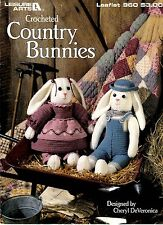 L A Crochet Pattern Book COUNTRY BUNNY STUFFED ANIMALS 960 by Cheryl DeVeronica