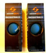 Two New Gearbox Boxes of the Top Blue Racquetball Balls - New