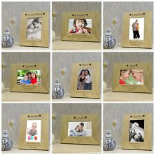 Family Member Wooden Photo Frame 7x5 - Personalised Engraved Gift