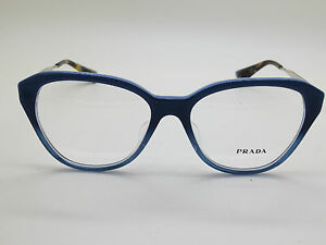 NEW Authentic PRADA VPR 28S-F UFW-1O1 Blue Gradient 54mm Rx Eyeglasses