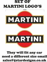 Le Mans Martini Racing style 2 x Logo Set Sticker decal 65 cm x 30 cm A648aacc