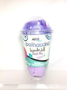 Bathaccino Alex Spa Lavender Chill Bath Mix Bomb Fizz Epsom Sponge Confetti Poof