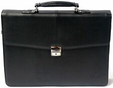 "Flapover 16"" Laptop Briefcase Bag Business Case Work Satchel Synthetic Leather"