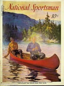 Vintage National Sportsman Magazine May 1935 Hunting FLy Fishing Canoe