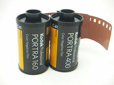 KODAK TESTER PACK 2 ROLLS OF PORTRA ONE 160 & ONE 400 35mm 36 Exp CHEAP NEG FILM