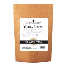 The Republic Of Tea Vanilla Almond Black Tea, 50 Tea Bags, Unique Blend Of Vanil