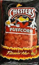 NEW CHESTER'S PUFFCORN FLAMIN HOT FLAVORED 4 1/4 OZ BAG PUFFED CORN SNACK BUY IT