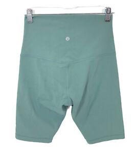 "Lululemon Womens Size 8 Super High Rise Align Short 10"" Tidewater Teal Shorts"