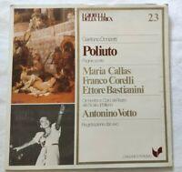 POLIUTO GAETANO DONIZETTI LP MARIA CALLAS CORELLI VINYL ITALY 1981 NM/NM