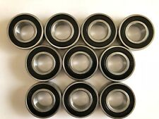 10 pcs 6205 2RS double rubber sealed ball bearing, 25x 52x 15 mm