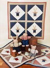 Farmyard Creations Quilt Pattern Plus Dolls HOP SKIP and JUMP Bunny Boy Bear