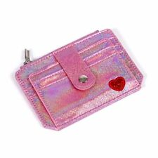 Slim Money Credit Card Holder ID Business Women Laser Shining PU Leather Wallet
