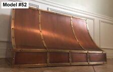 Brass & Copper Hood for Between Cabinets, Copper Vent Hood,motor Incl. Model #52
