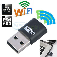 AC600 Dual Band 600Mbps Wireless USB WiFi Network Adapter LAN Card 5Ghz 802.11AC