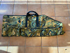 Vintage Camouflage Rifle Storage Case Padded Full Zip With Pockets And Handle