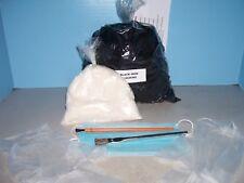 """Black Nylon Flocking (8oz.)1/2 Pound"""" Plus 3oz. Free Bag White, Duck/Goose/Decoy"""