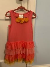 Nwot Peach Hanna Andersson Fizzy Dress Size 100