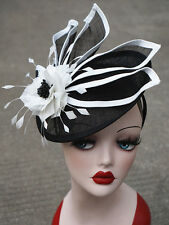 f2ea4fdda7a Womens Ladies Dress Fascinator Wedding Kentucky Derby Sinamay Hat T213