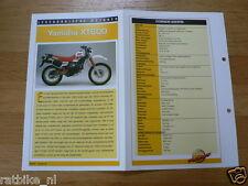 LM44- YAMAHA XT600 INFO MOTORCYCLE,MOTORRAD,MOTORFIETS