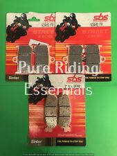 SBS 634 HS 728 LS YAMAHA YZF 1000 R1 2002 - 2003 FRONT + REAR BRAKE PADS