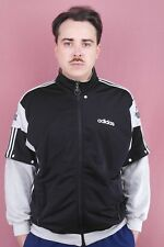 adidas Herren Sportjacke Trainingsjacke training jacket tracksuit top schwarz