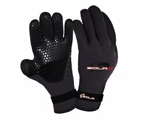 Adults Sola Watersports 3mm Titanium Doubled Lined Neoprene Wetsuit Gloves