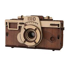 "DIY Working Wood Pinhole Camera - Uses 35mm Film - 6"" x 2.5"" x 3.25"""