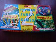 Vintage Merit Bingo & Roulette combination game