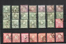 1881 POSTESPERSANES SUN STAMPS, HIGH VALUE, FINE USED, SCARCE CANCELS