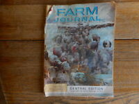 Vintage 1961 Farm Journal magazine farming agriculture moisture damage