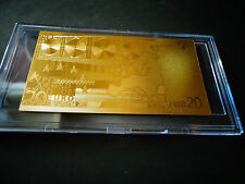 24 KT GOLD 20 EURO €-European Union MONEY 2002 *GIFT BILL COMES IN ACYLIC HOLDER