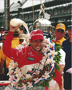 INDY CAR HELIO CASTRONEVES SIGNED 8X10 PHOTO INDIANAPOLIS 500 CHAMPION 20 W/COA