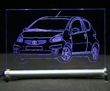 Toyota  Aygo    als AutoGravur auf LED Leuchtschild