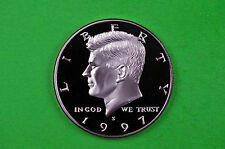 1997-S Kennedy SILVER Half Dollar Deep Cameo US GEM Proof Coin (90% SILVER
