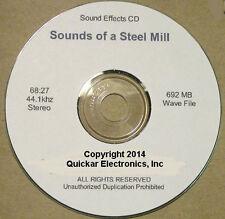 STEEL MILL SOUND EFFECTS CD FOR O SCALE MODEL RAILROADS