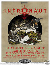 INTRONAUT / SCALE THE SUMMIT / EARTH TO ASHES 2013 PORTLAND CONCERT TOUR POSTER