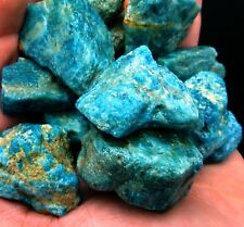 10 pound Lot of BLUE APATITE Crystal ROUGH Wholesale Cabbing Tumbling  Brazil