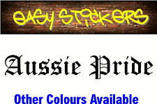 580mm Aussie Pride Car Ute Country Windscreen Window Decal Sticker - Any Colour!