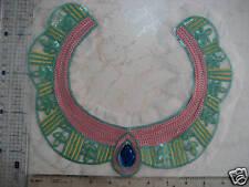 Sequin Bead Applique, Vneck, Neckline motif, Sew On Trim Patch sequin trim 1pc