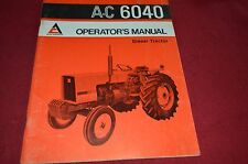 Allis Chalmers 6040 Tractor Operator's Manual DCPA4