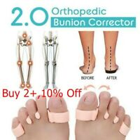 2 x Orthopedic Bunion Corrector 2.0 Toe Separators Elastic Straighteners Sp Z0K3