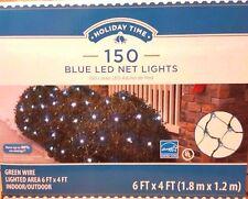 Set of 150 Blue LED Net Light Christmas Lights/Green Wire - 6 ftx4 ft - 12V 60Hz