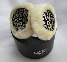 UGG Earmuffs Wired Tech Cheetah Leather Shearling NEW